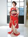 ブロガー大川玲子さんがドラマティックな引き振袖姿を披露@ドゥ アンディオール 銀座【コーディネイト編】